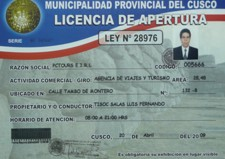 PCtours travel agency Municipal License