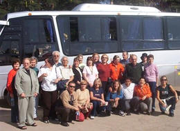 Group of happy adults Peru Cusco 15 days trips